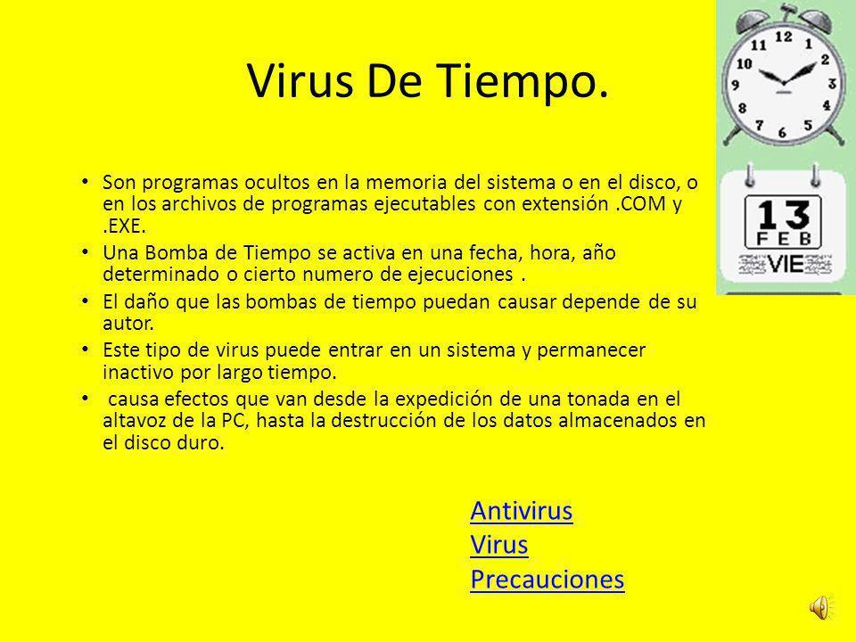 Virus De Tiempo. Antivirus Virus Precauciones