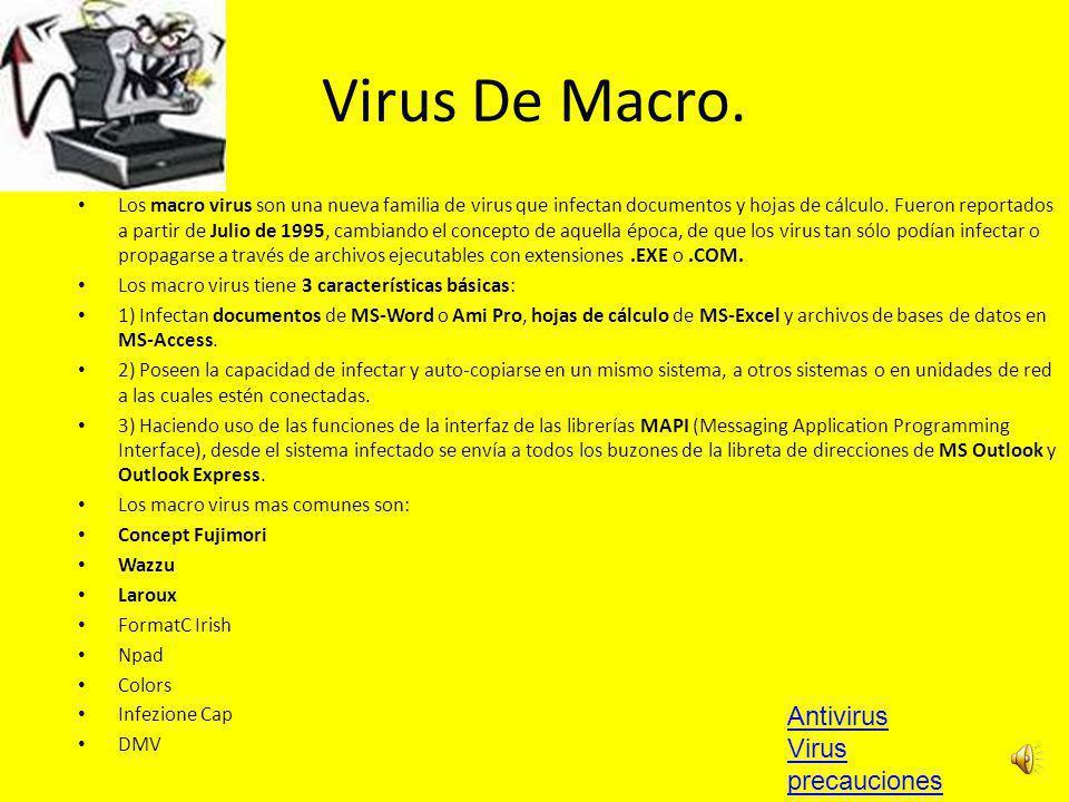 Virus De Macro. Antivirus Virus precauciones