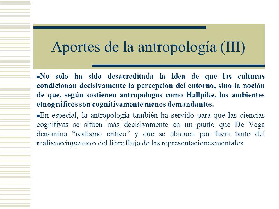 Aportes de la antropología (III)