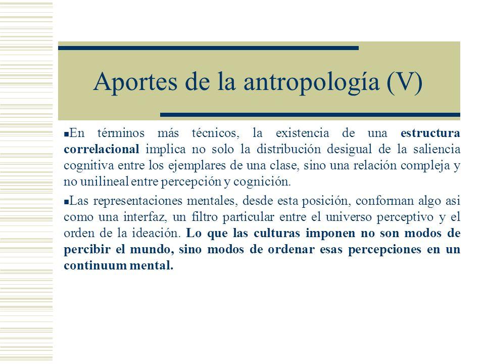 Aportes de la antropología (V)