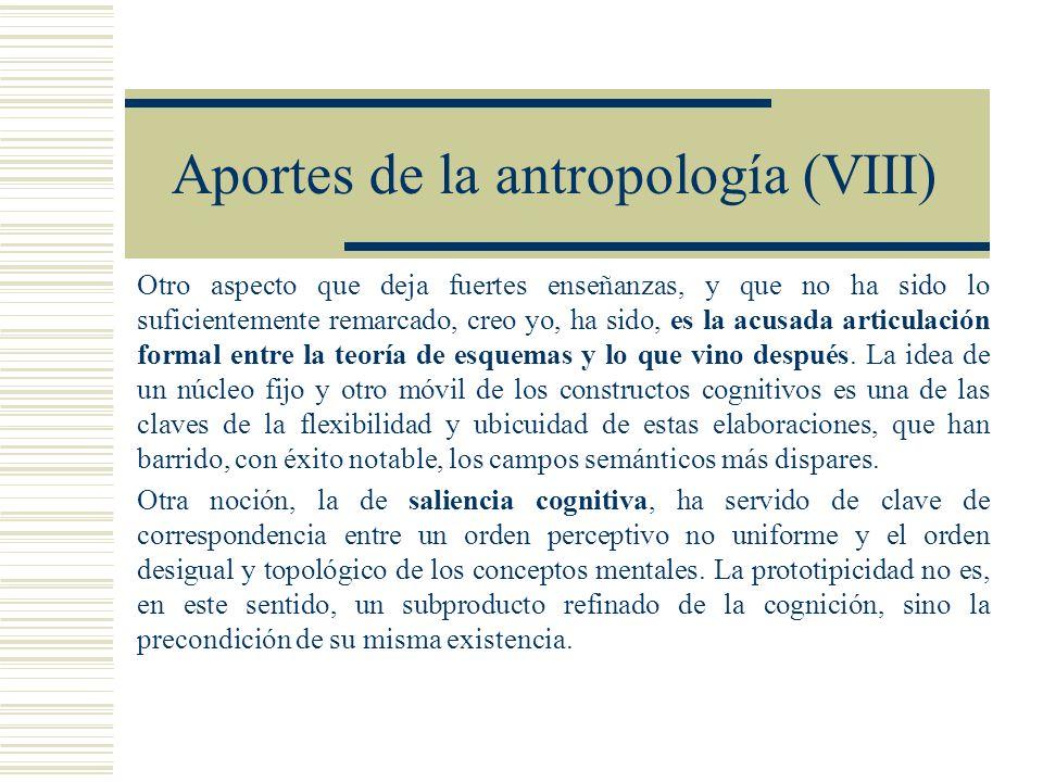 Aportes de la antropología (VIII)