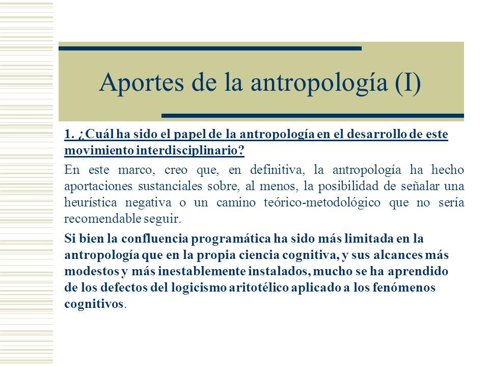 Aportes de la antropología (I)