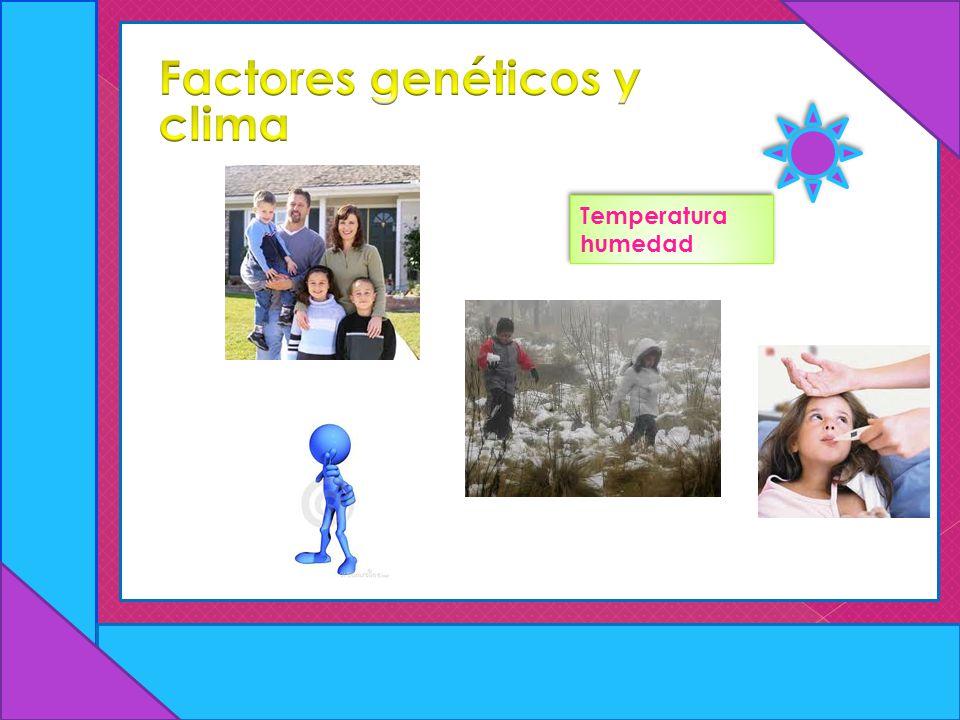 Factores genéticos y clima