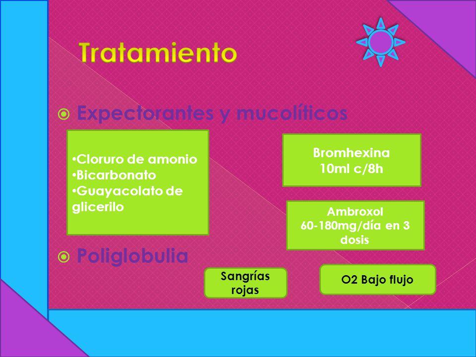 Tratamiento Expectorantes y mucolíticos Poliglobulia Bromhexina