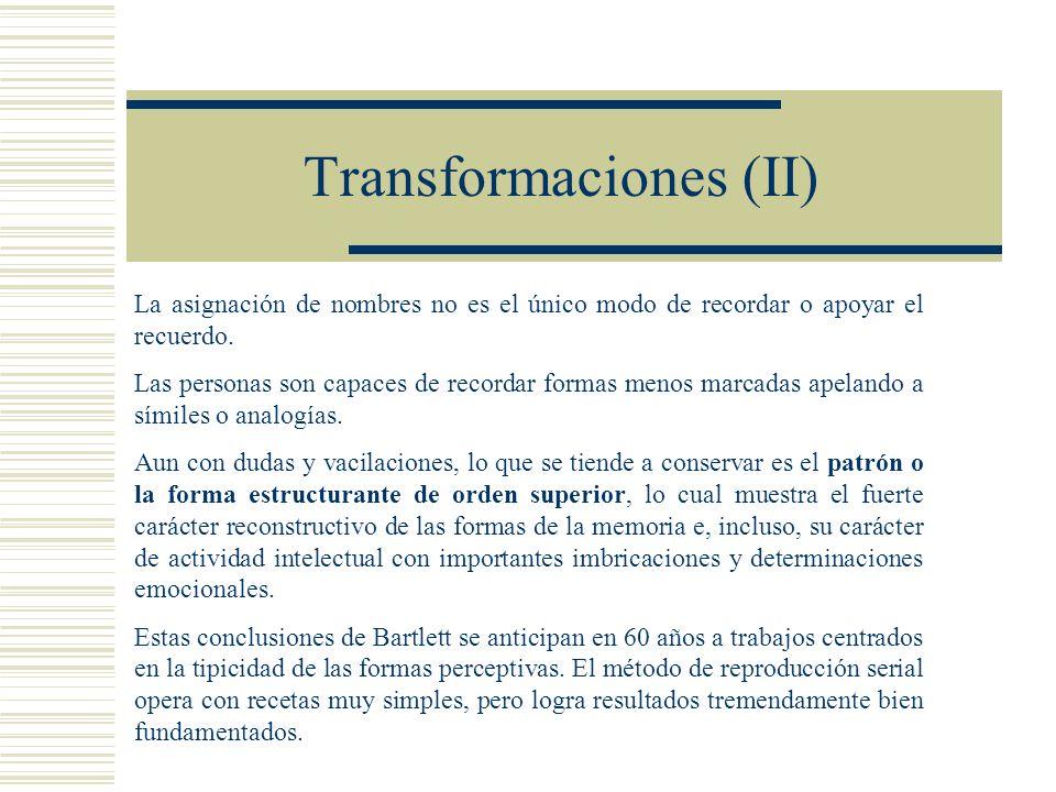 Transformaciones (II)