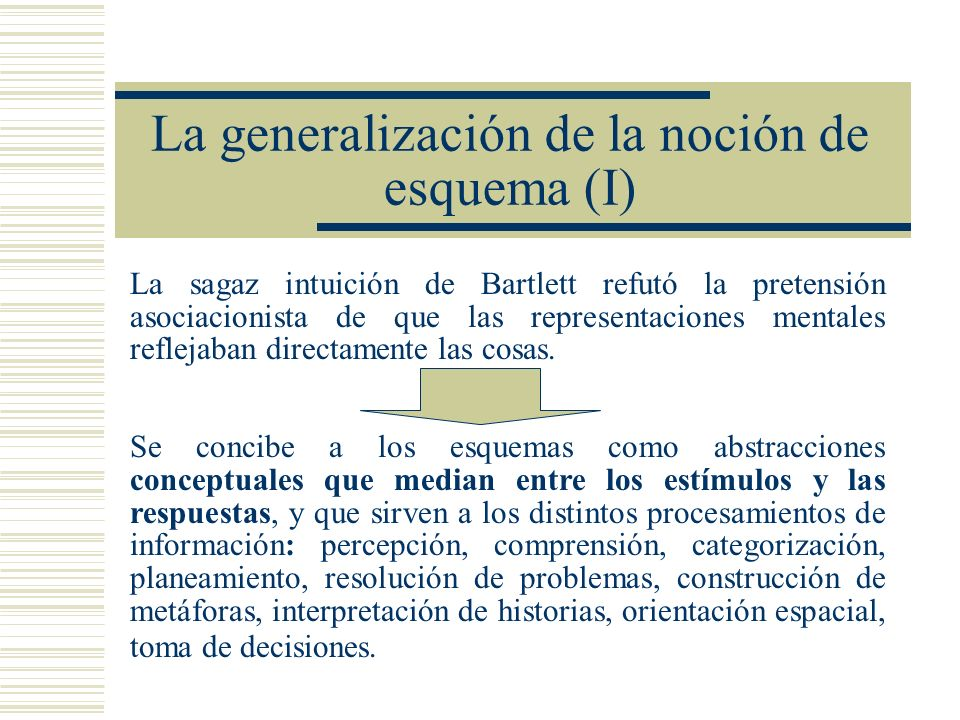 La generalización de la noción de esquema (I)