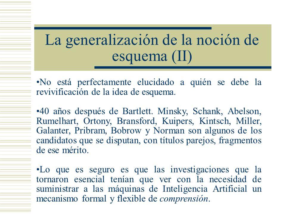 La generalización de la noción de esquema (II)