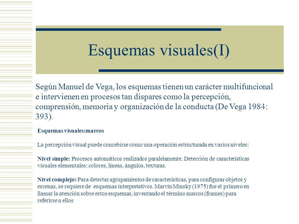Esquemas visuales(I)