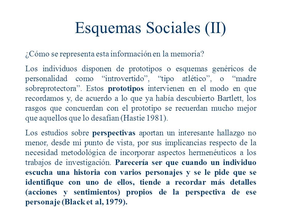 Esquemas Sociales (II)