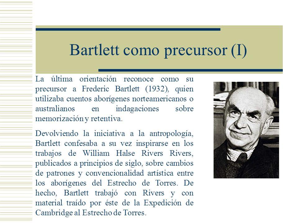 Bartlett como precursor (I)