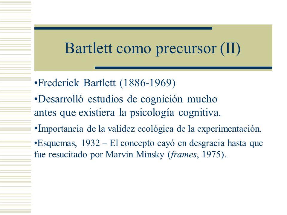 Bartlett como precursor (II)