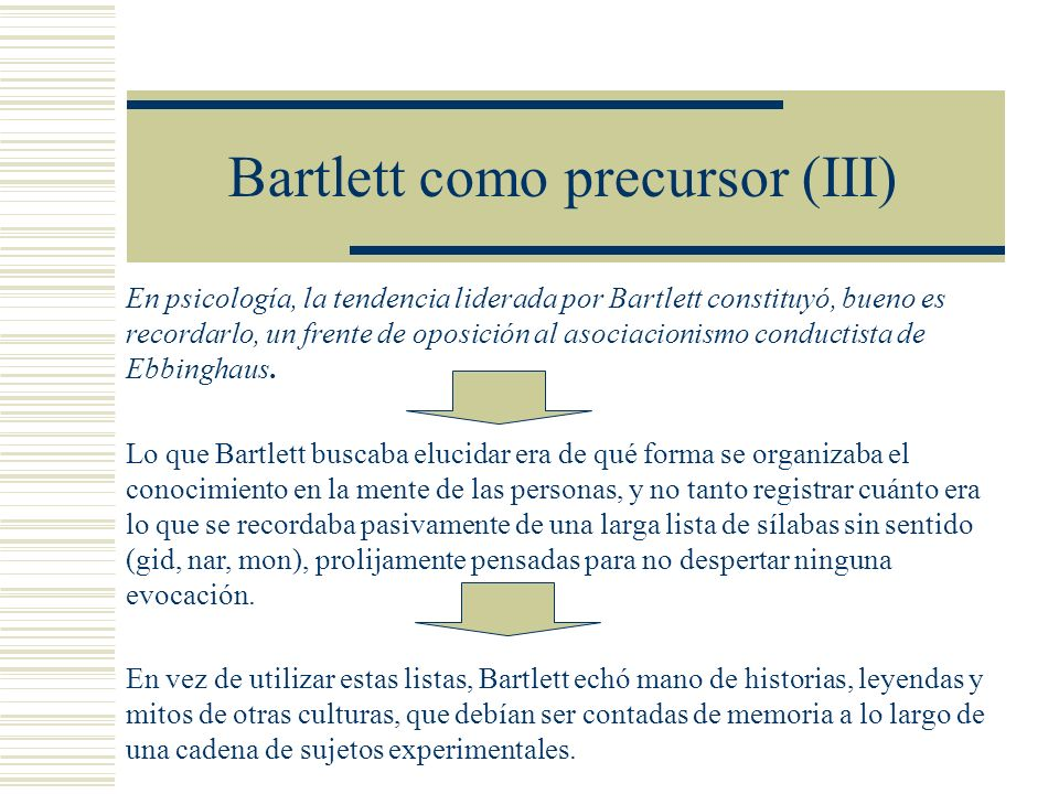 Bartlett como precursor (III)