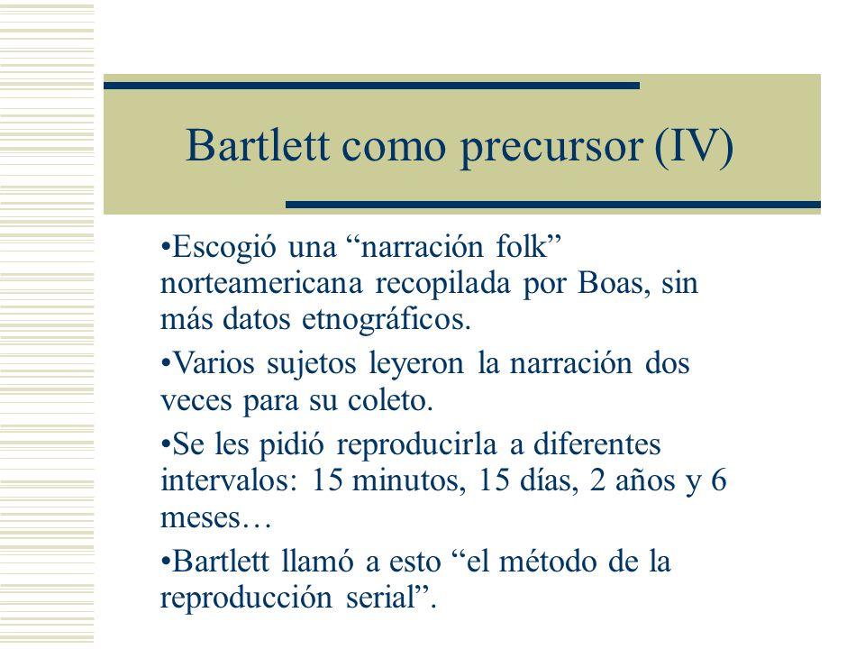 Bartlett como precursor (IV)