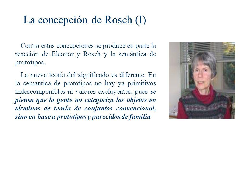 La concepción de Rosch (I)