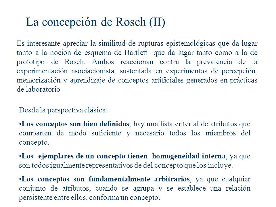 La concepción de Rosch (II)