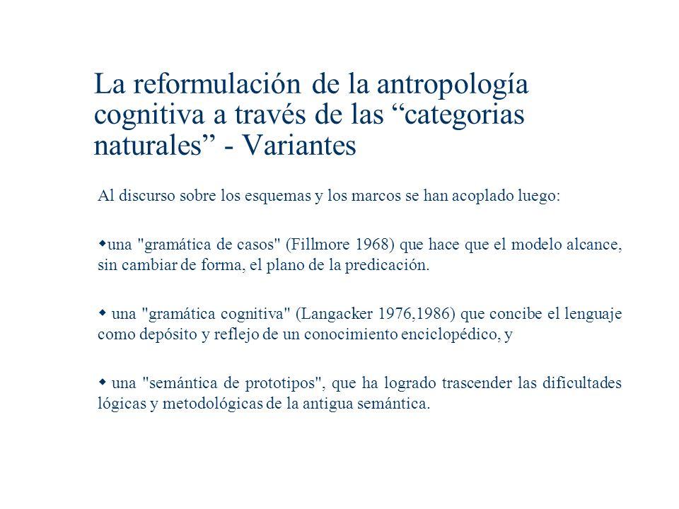 La reformulación de la antropología cognitiva a través de las categorias naturales - Variantes