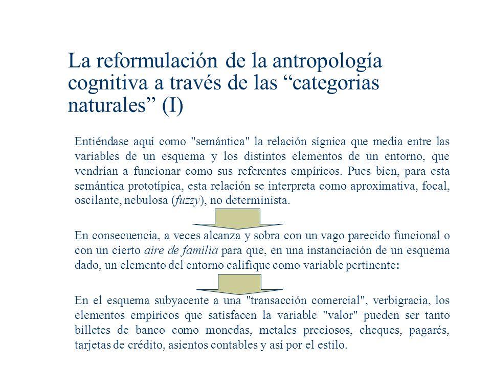 La reformulación de la antropología cognitiva a través de las categorias naturales (I)