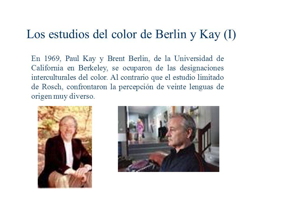 Los estudios del color de Berlin y Kay (I)