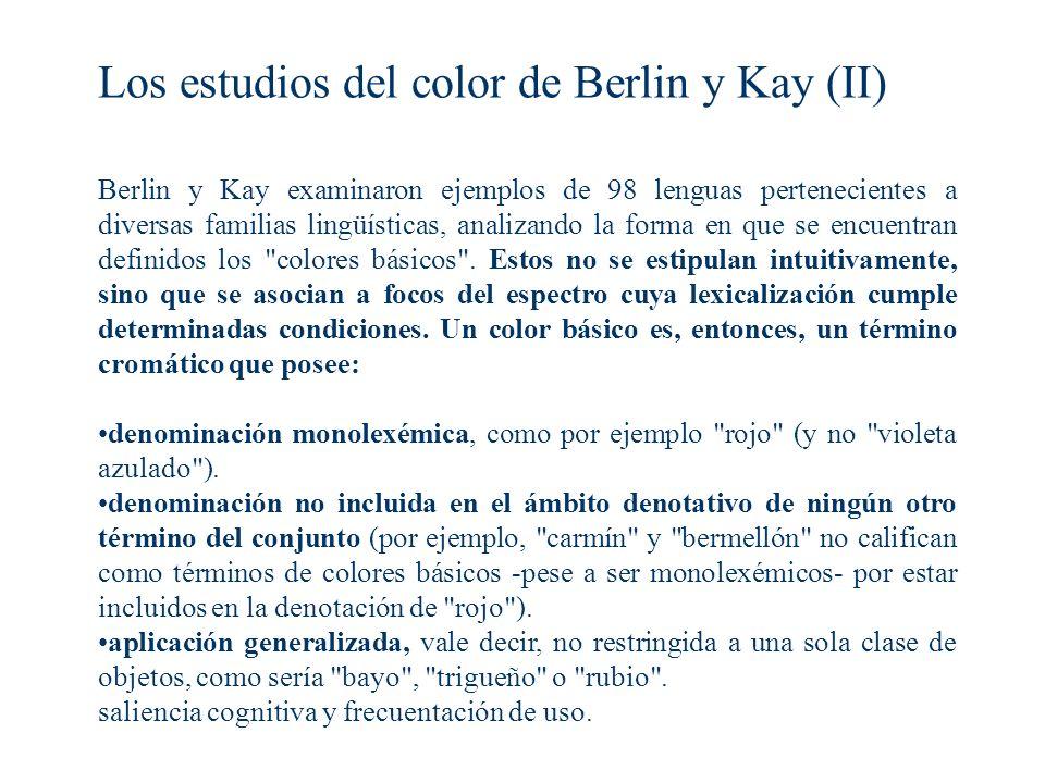 Los estudios del color de Berlin y Kay (II)
