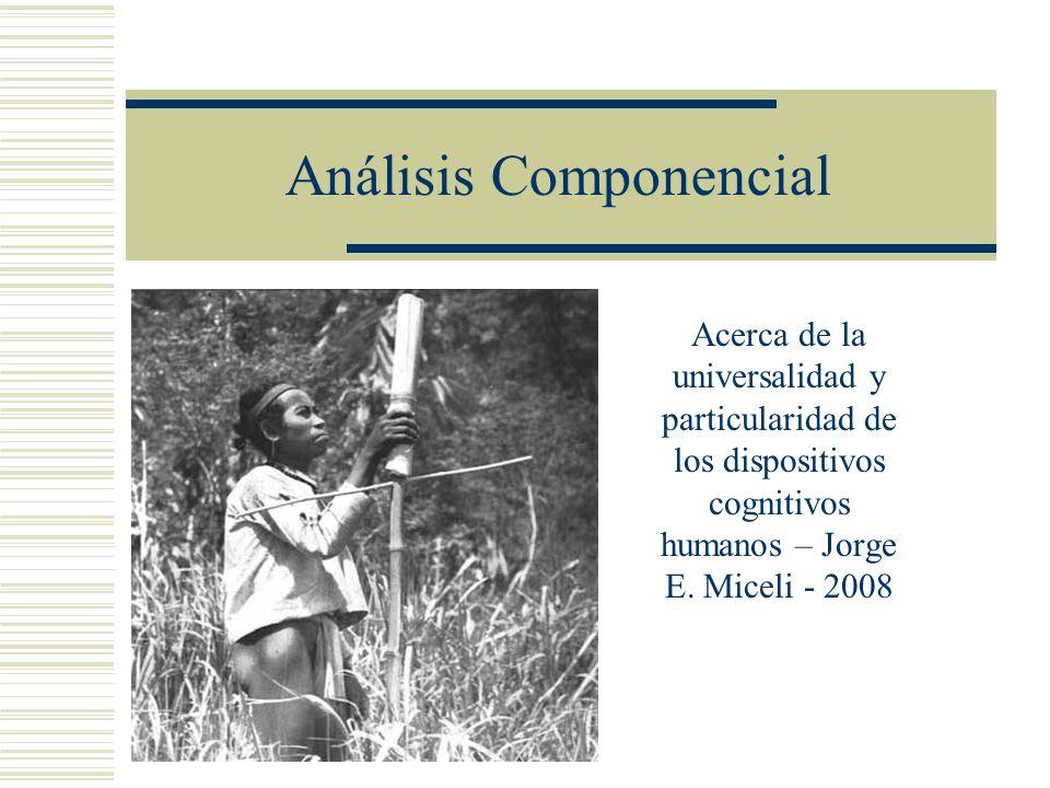 Análisis Componencial