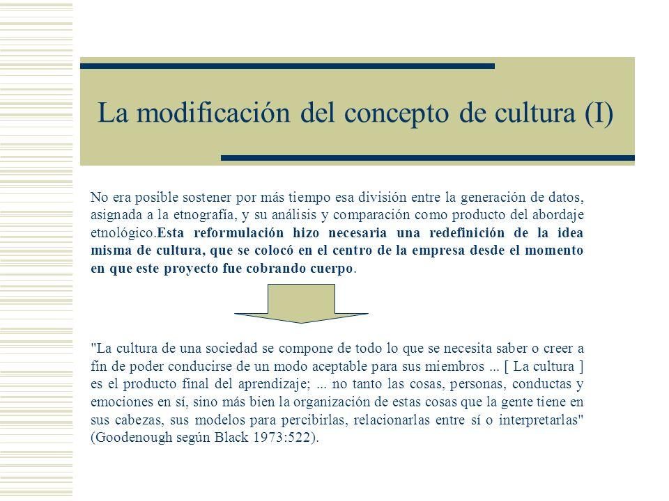 La modificación del concepto de cultura (I)