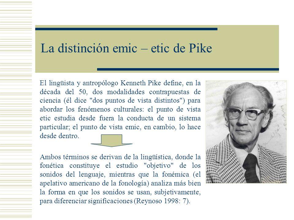 La distinción emic – etic de Pike