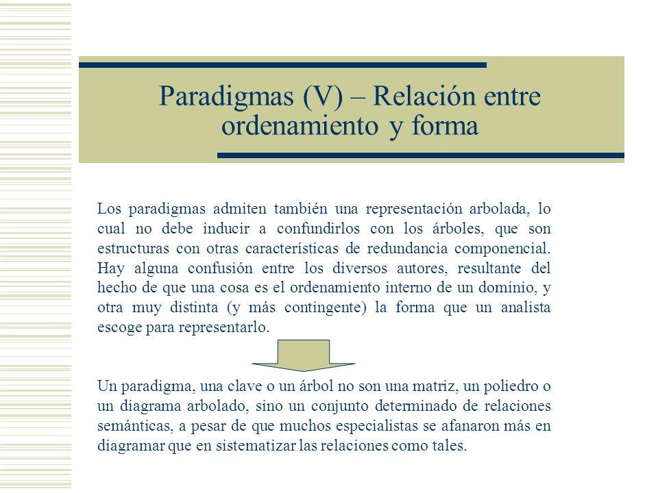 Paradigmas (V) – Relación entre ordenamiento y forma