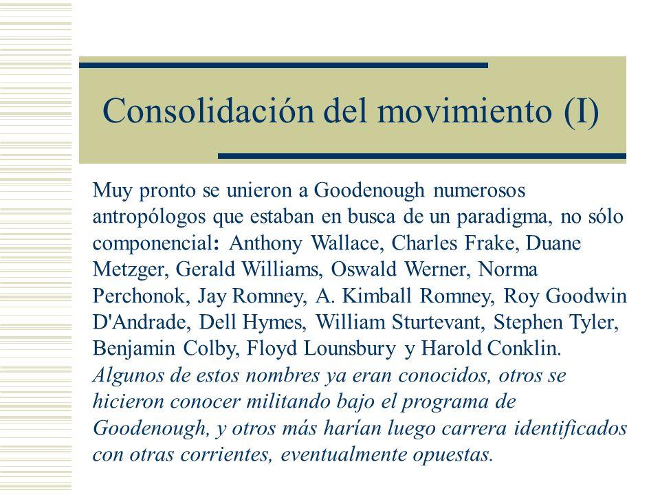 Consolidación del movimiento (I)
