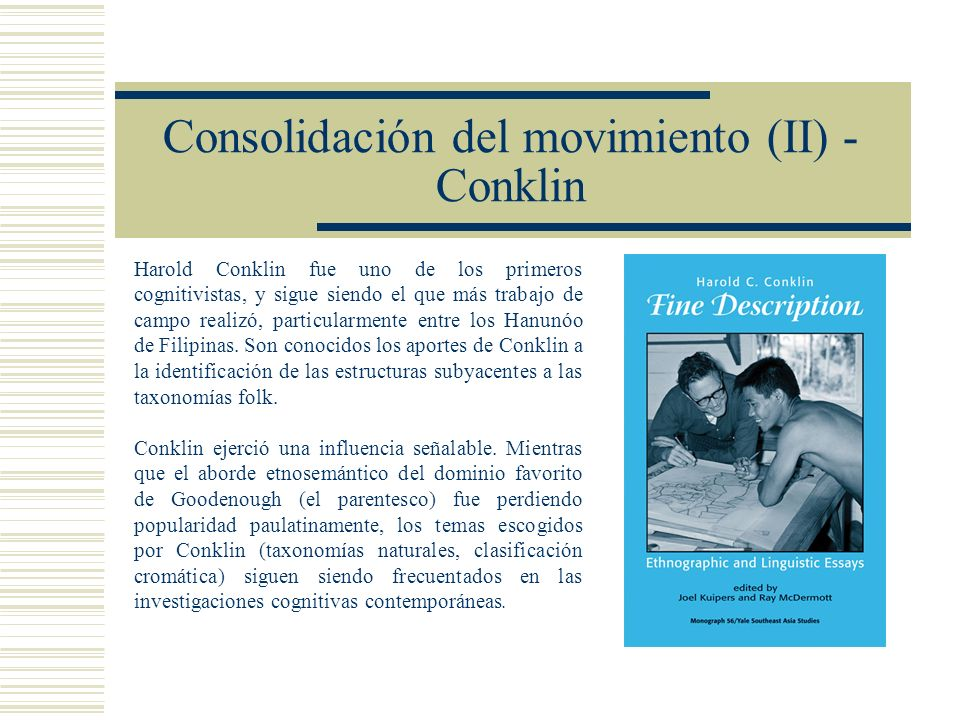 Consolidación del movimiento (II) - Conklin