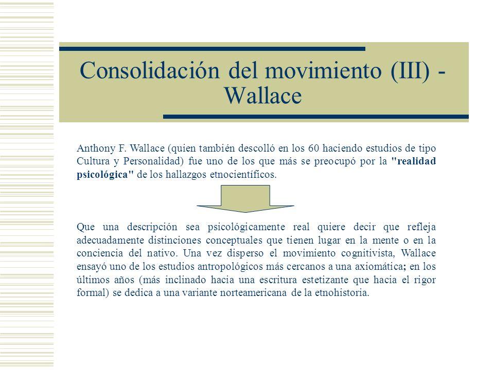 Consolidación del movimiento (III) - Wallace