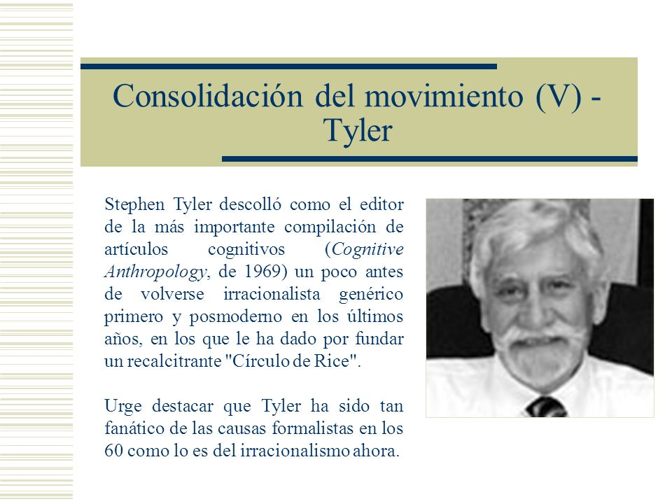 Consolidación del movimiento (V) - Tyler