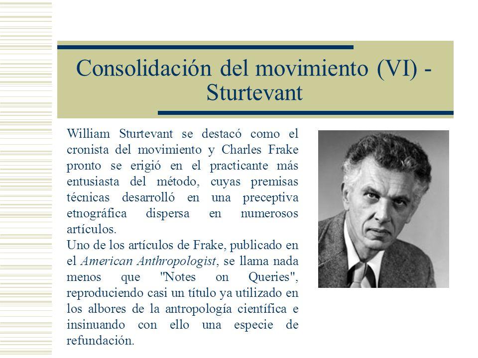 Consolidación del movimiento (VI) - Sturtevant