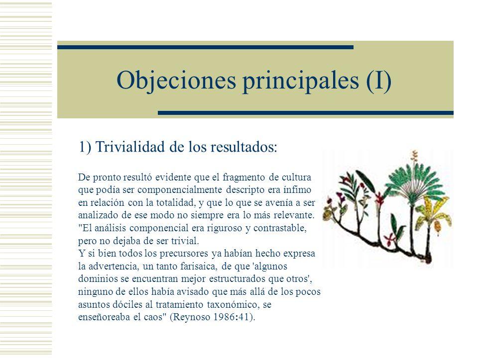 Objeciones principales (I)