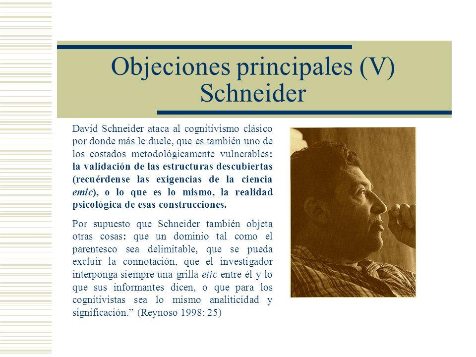 Objeciones principales (V) Schneider