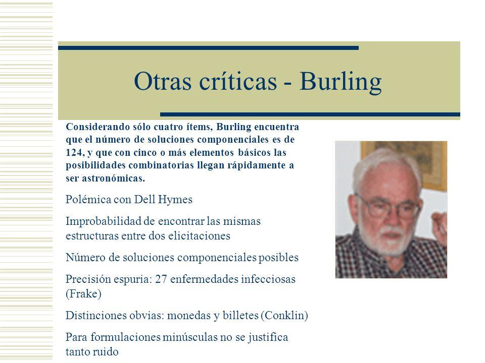 Otras críticas - Burling