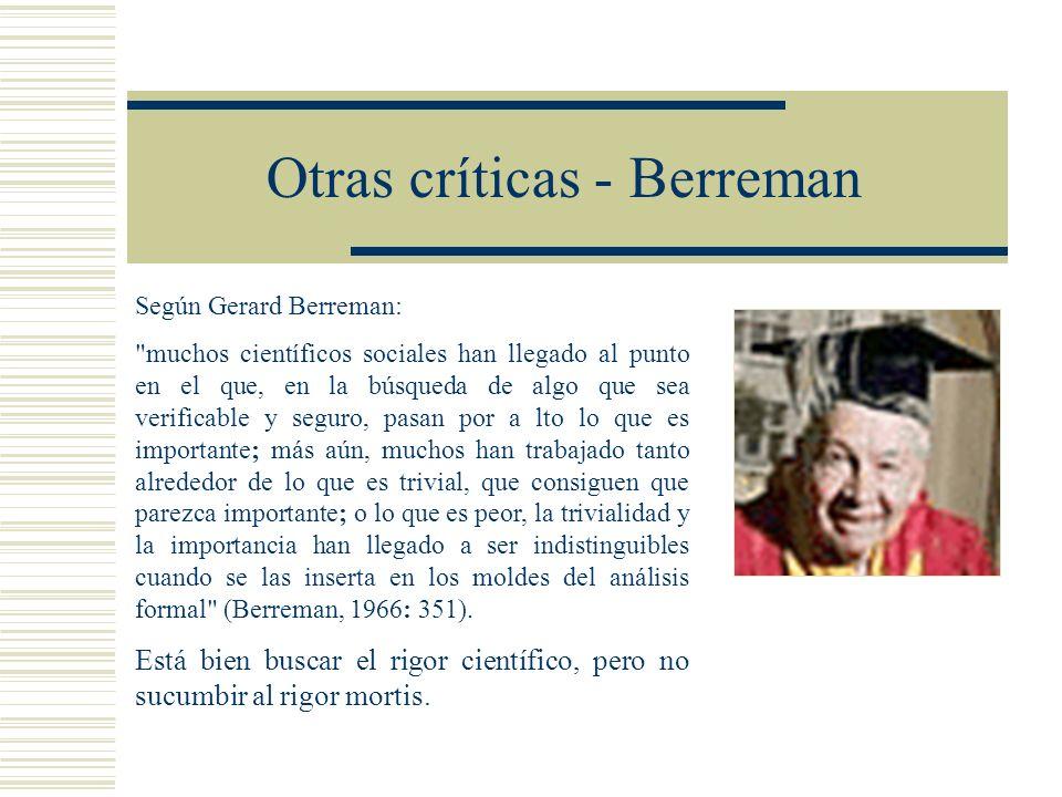 Otras críticas - Berreman
