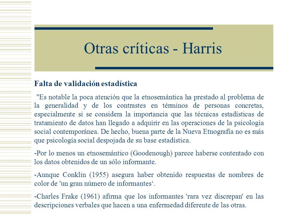 Otras críticas - Harris