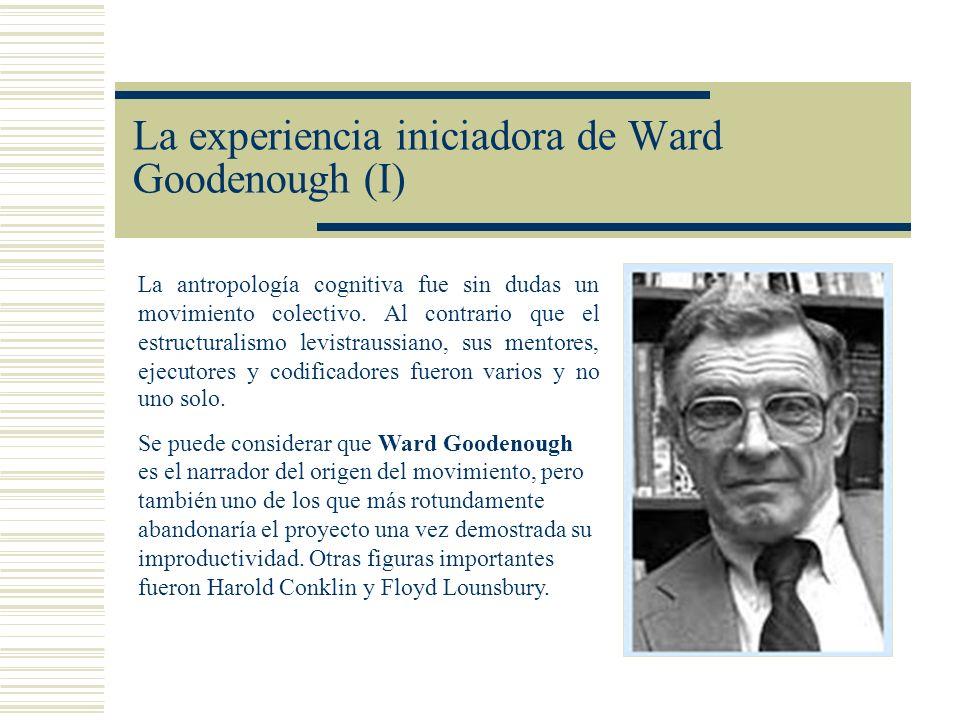 La experiencia iniciadora de Ward Goodenough (I)