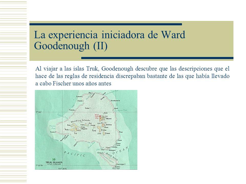 La experiencia iniciadora de Ward Goodenough (II)