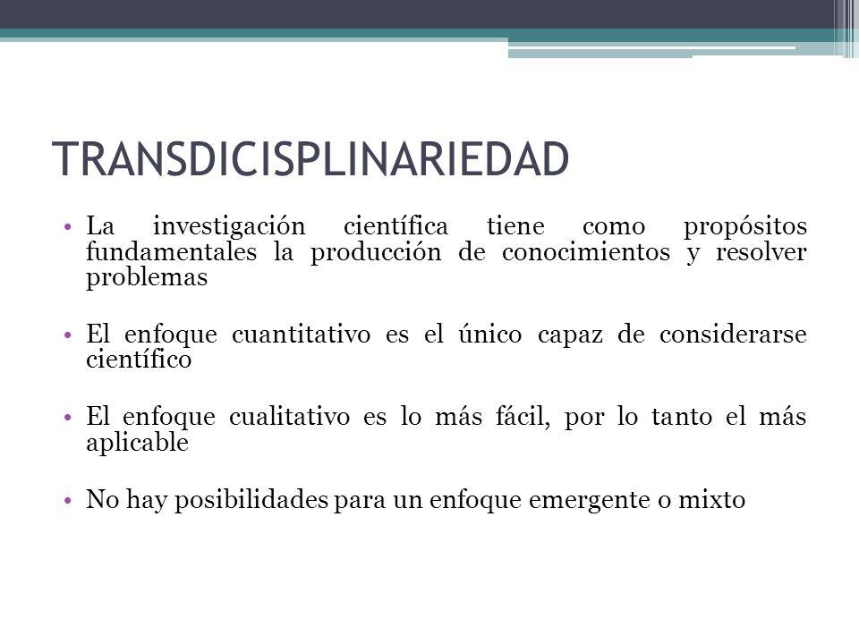 TRANSDICISPLINARIEDAD