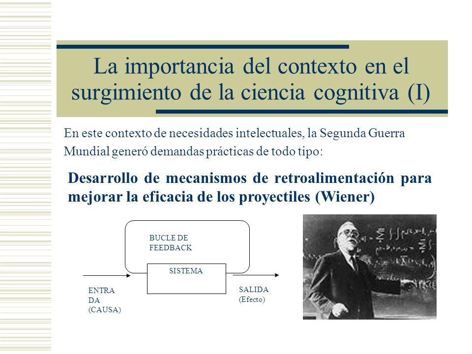 La importancia del contexto en el surgimiento de la ciencia cognitiva (I)