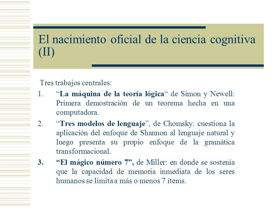 El nacimiento oficial de la ciencia cognitiva (II)