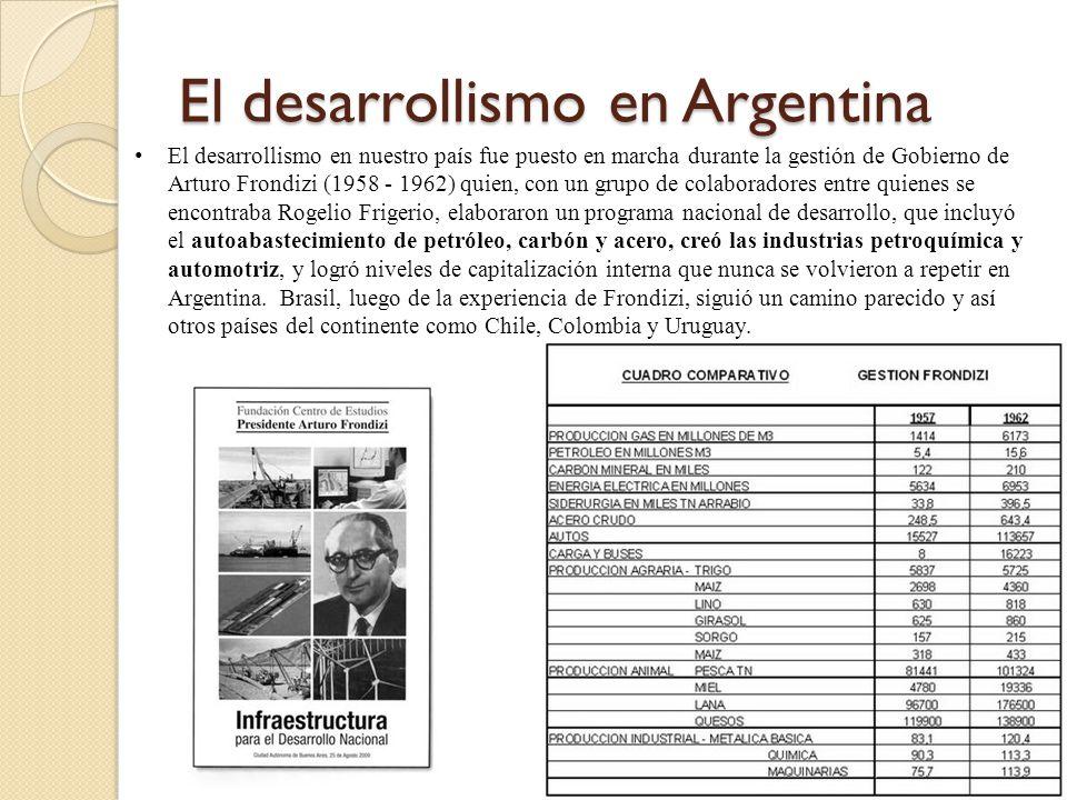 El desarrollismo en Argentina