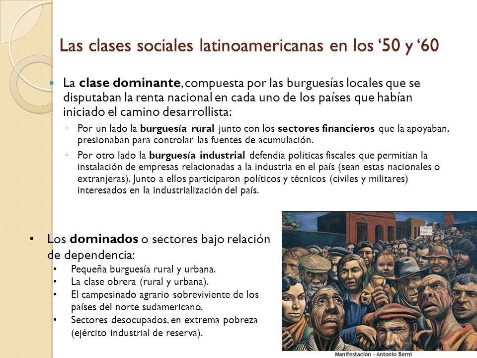 Las clases sociales latinoamericanas en los '50 y '60