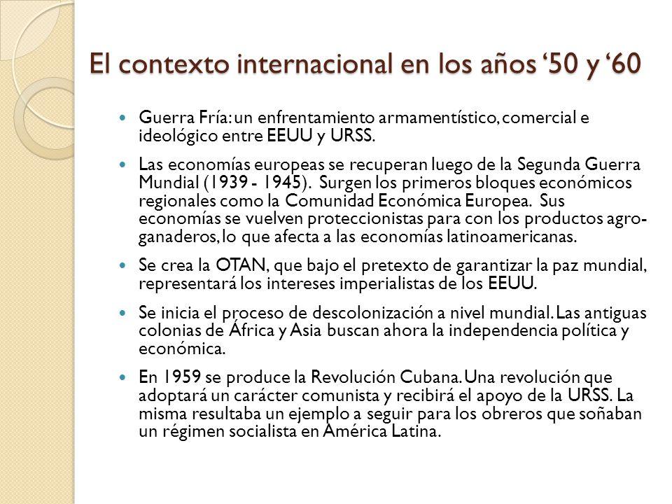 El contexto internacional en los años '50 y '60
