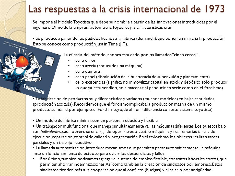 Las respuestas a la crisis internacional de 1973
