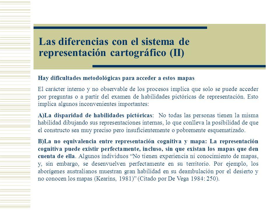 Las diferencias con el sistema de representación cartográfico (II)