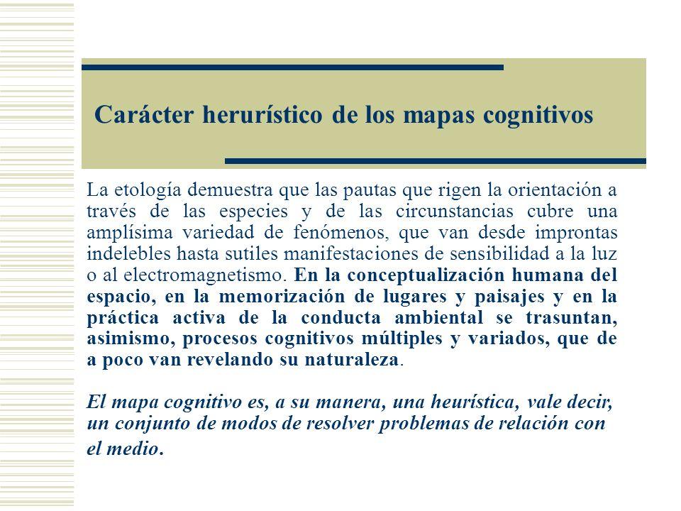 Carácter herurístico de los mapas cognitivos