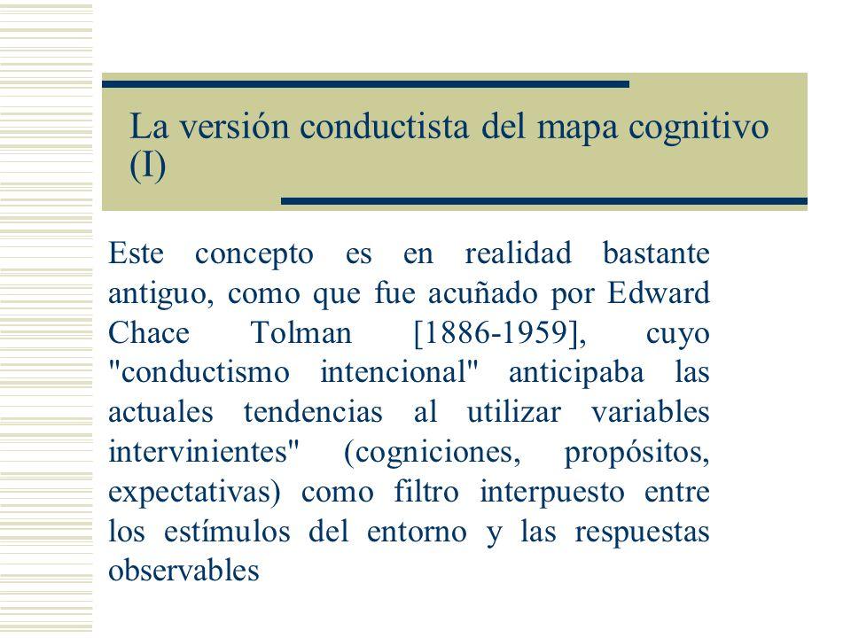 La versión conductista del mapa cognitivo (I)