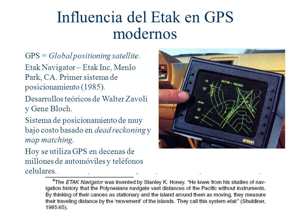 Influencia del Etak en GPS modernos